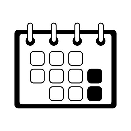 calendar reminder planning on white background vector illustration