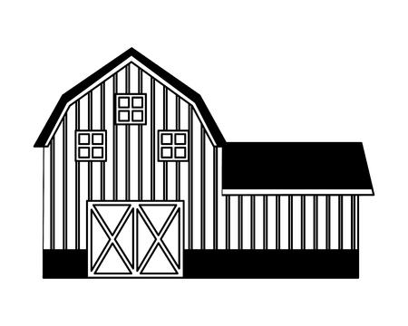 Granja de granero fresco en la ilustración de vector de fondo blanco Ilustración de vector