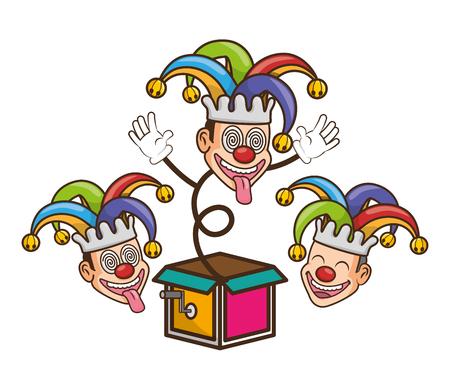 jesters comic box humor april fools day vector illustration