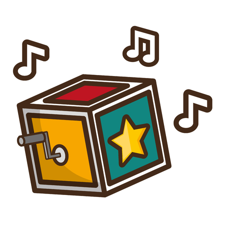 prank box music april fools day vector illustration Çizim