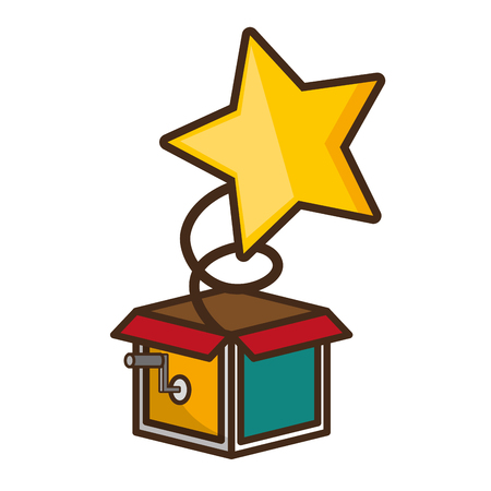 prank box star april fools day vector illustration