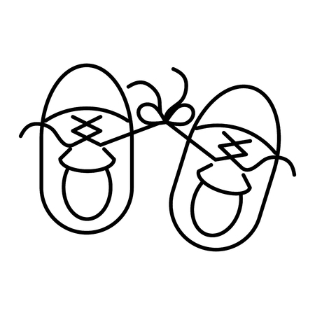 sneakers laces tied april fools day vector illustration Illustration