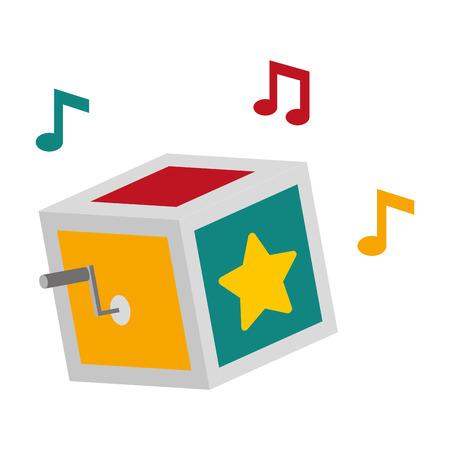 prank box music april fools day vector illustration Illustration