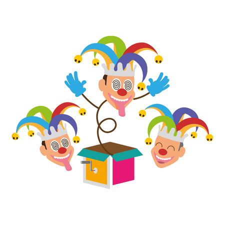 jesters comic box humor april fools day vector illustration