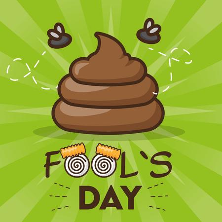 prank celebration poster april fools day vector illustration