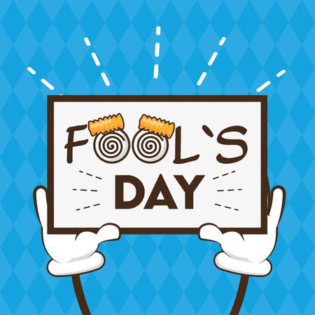 funny poster celebration april fools day vector illustration