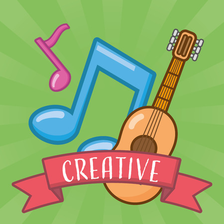brain idea creativity music artistic vector illustration