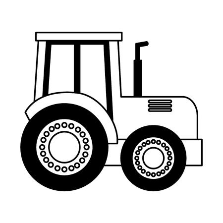 tractor truck farm on white background vector illustration Illustration
