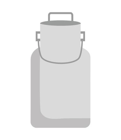 milk can farm on white background vector illustration