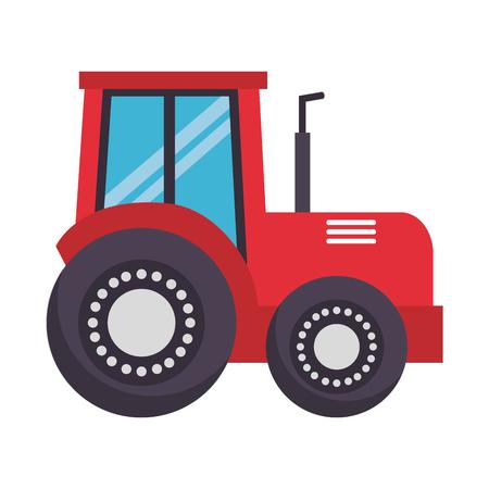 tractor truck farm on white background vector illustration Illustration