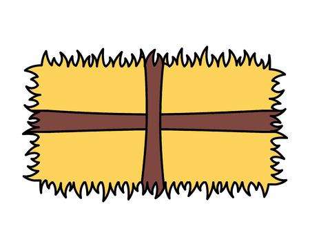 Ferme de foin sur fond blanc vector illustration