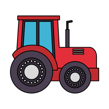 tractor truck farm on white background vector illustration Ilustrace