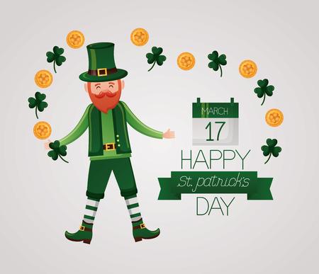 leprechaun happy st patricks day vector illustration Foto de archivo - 124861161