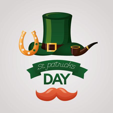 hat happy st patricks day vector illustration