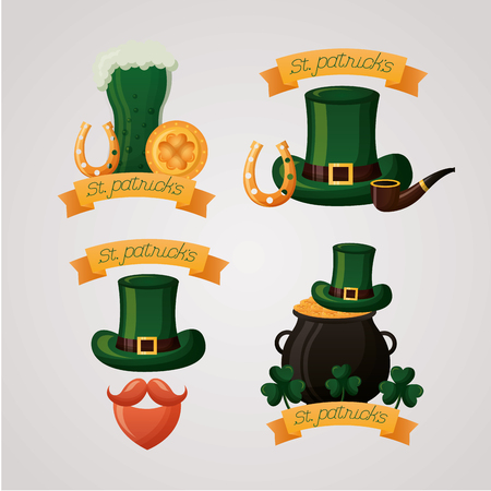 hat happy st patricks day vector illustration