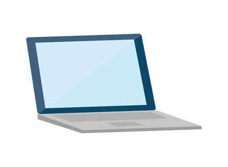 laptop device tech on white background vector illustration