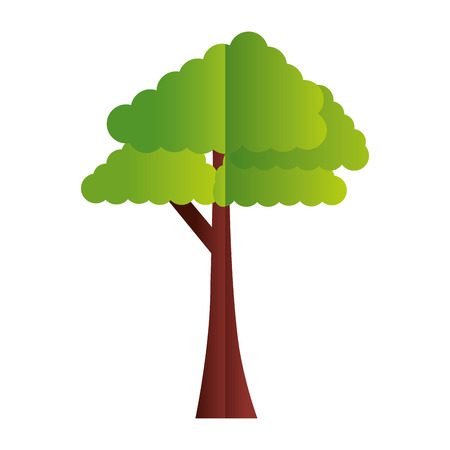 tree forest nature paper origami vector illustration
