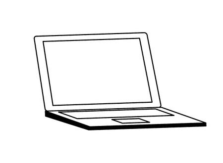 Technologie de périphérique portable sur fond blanc vector illustration Vecteurs