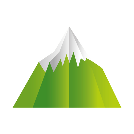 mountain snow paper origami landscape vector illustration Stok Fotoğraf - 124834577