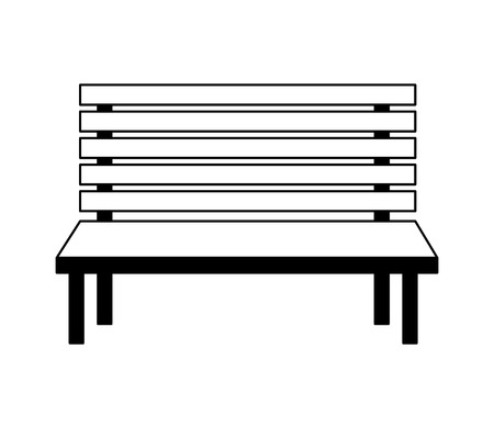 wooden bench furniture on white background vector illustration Stock fotó - 124834602