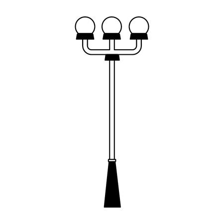 lamp post lights on white background vector illustration