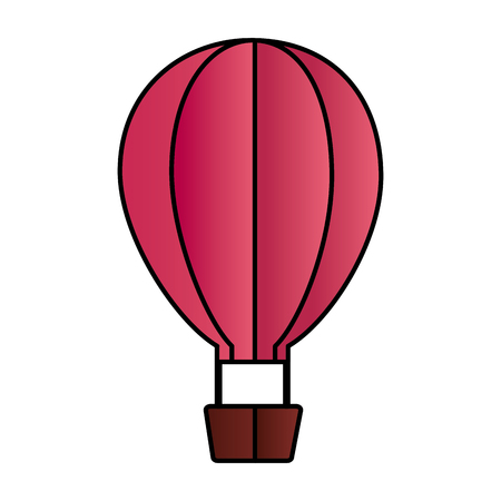 hot air balloon on white background vector illustration Illustration