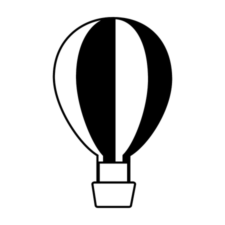 hot air balloon on white background vector illustration  イラスト・ベクター素材