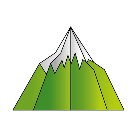 mountain snow paper origami landscape vector illustration