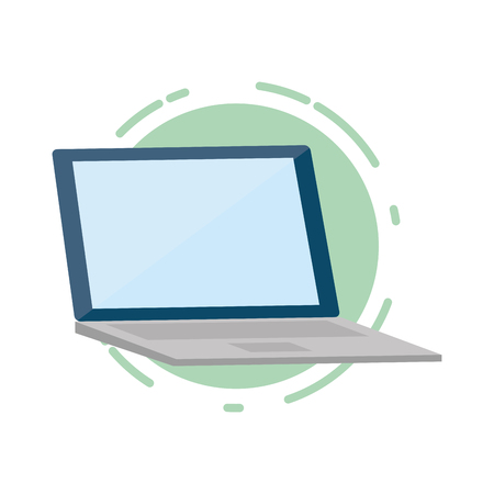 laptop computer tech device icon vector illustration