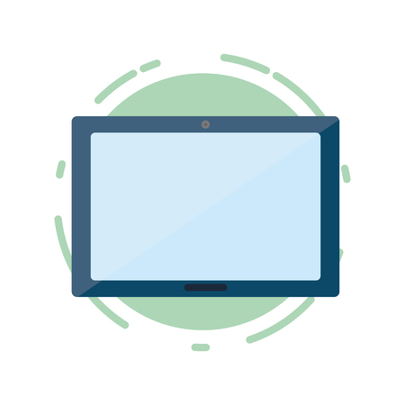 tablet computer tech device icon vector illustration