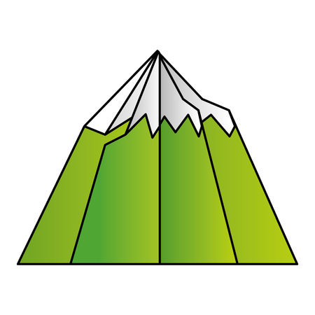 mountain snow paper origami landscape vector illustration Stok Fotoğraf - 124834662