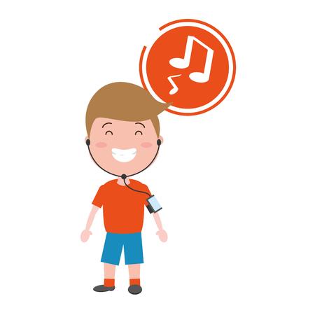 sport boy with wearable tech device vector illustration Reklamní fotografie - 117914702