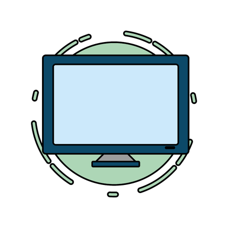 computer monitor tech digital icon vector illustration 向量圖像