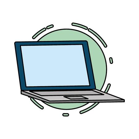 laptop computer tech device icon vector illustration