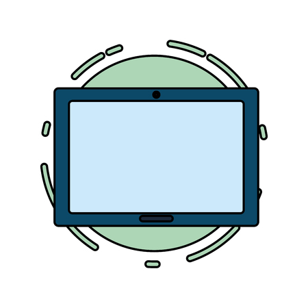 tablet computer tech device icon vector illustration Illustration