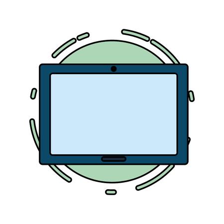 tablet computer tech device icon vector illustration Vecteurs