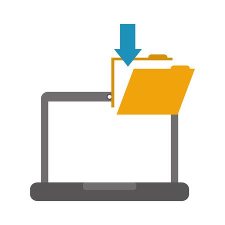 Laptop-Ordner-Datei herunterladen Daten