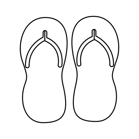 flip flops accessory on white background