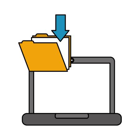 laptop folder file download data