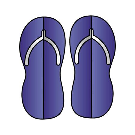 flip flops accessory paper origami vector illustration Illustration