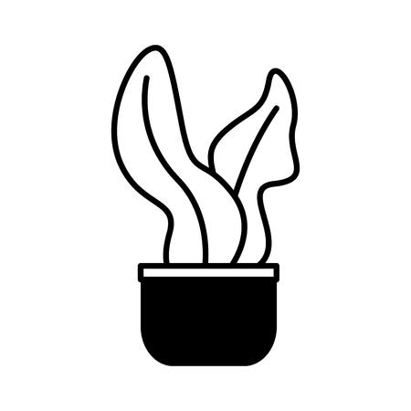 potted plant leaves on white background vector illustration Illustration