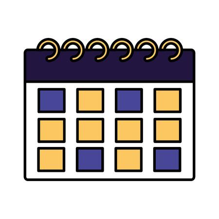 calendar reminder plan on white background vector illustration Stock Vector - 117914868