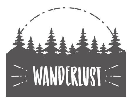 forest nature wanderlust landscape sketch design vector illustration 版權商用圖片 - 124835004