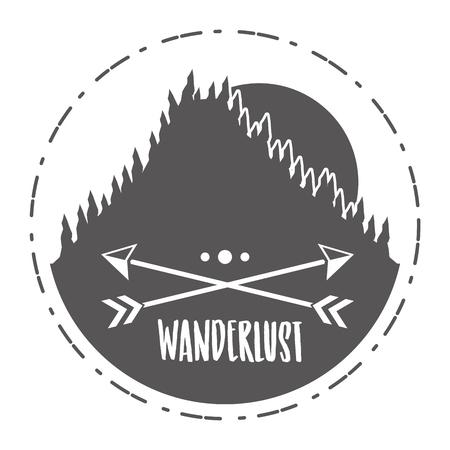 forest nature wanderlust landscape sketch design vector illustration 版權商用圖片 - 124835006