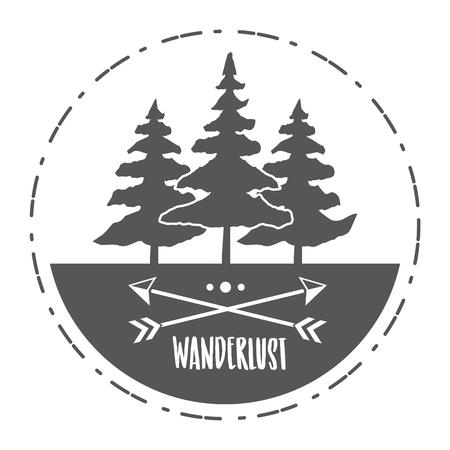 forest nature wanderlust landscape sketch design vector illustration 版權商用圖片 - 124835007