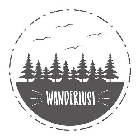 forest nature wanderlust landscape sketch design vector illustration 版權商用圖片 - 124835008