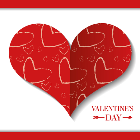 decorative heart happy valentines day vector illustration 일러스트