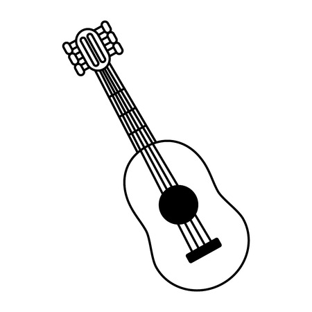 guitar instrument music on white background vector illustration Stock Vector - 118142567
