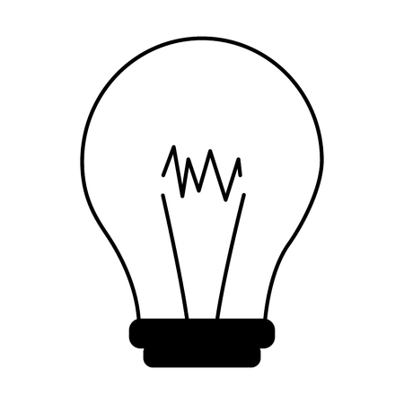 bulb light icon on white background vector illustration Иллюстрация