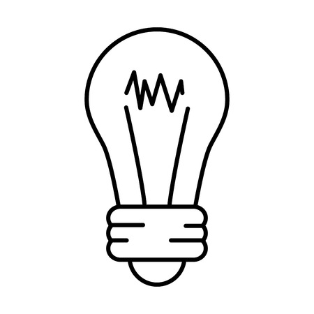 bulb light icon on white background vector illustration Banco de Imagens - 118160413